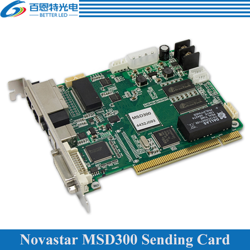 NOVASTAR MSD300 LED Display Sending Card, Outdoor And Indoor Full Color LED Video Display Synchronous Controller
