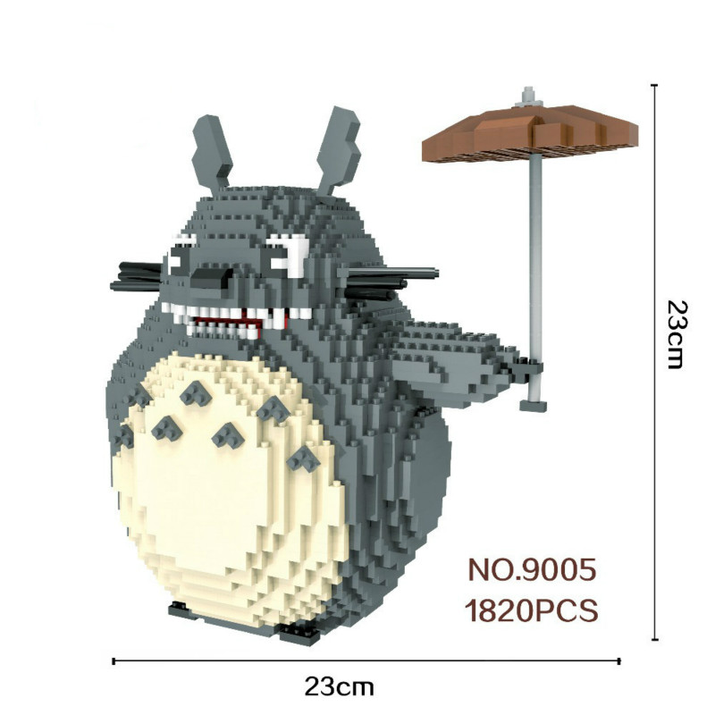 1280-2276pcs 9005-9026 Big Size Blocks Totoro Mini Blocks Micro Blocks Super maros DIY Building Toys Model for Children Gifts