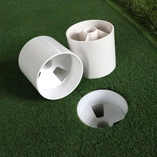 Golf Training Aids White Plastic Hole Cup Putting Putter Flag Stick Garden Backyard Practice GMT601