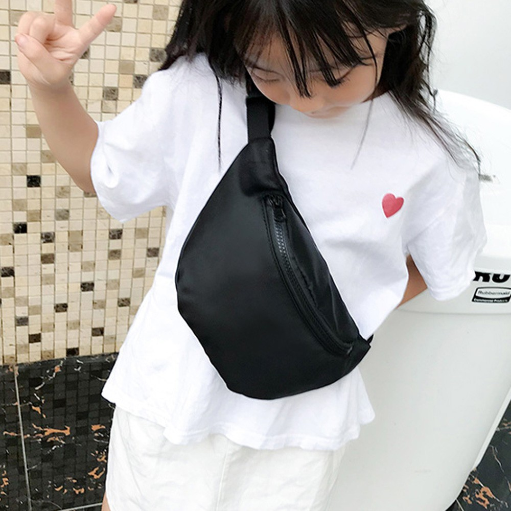 Belt-Bag Pocket Waist-Wild-Bag Shoulder-Fanny-Pack Girls Mini Kid Fashion Women Children title=
