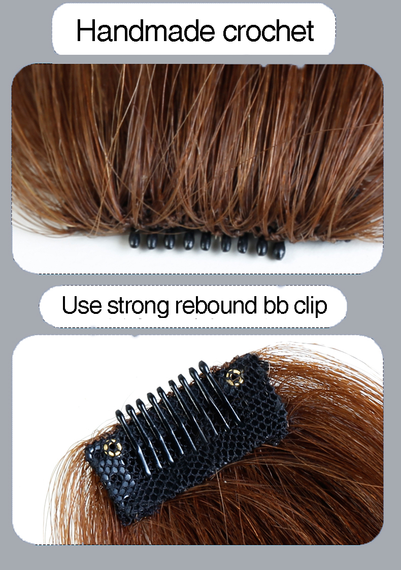 HOUYAN 25-35 см натуральные человеческие волосы на заколках на лицевой стороне челки женщина с поддельной бахромой волосы