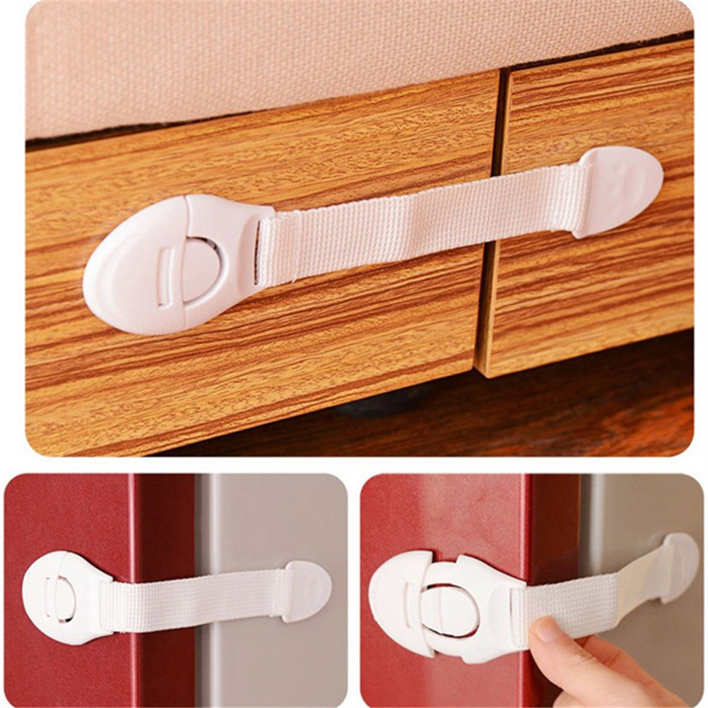 Lengthened Bendy Safety Plastic Locks Baby Infant Child Kids Cabinet Door Drawers Refrigerator Toilet Safe Lock Protection
