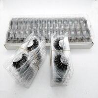 YSDO Wholesale 20/30/50 Pairs 3D Mink Eyelashes DIY logo Lashes Box Volume Makeup False Eyelashes Fluffy Mink Lashes