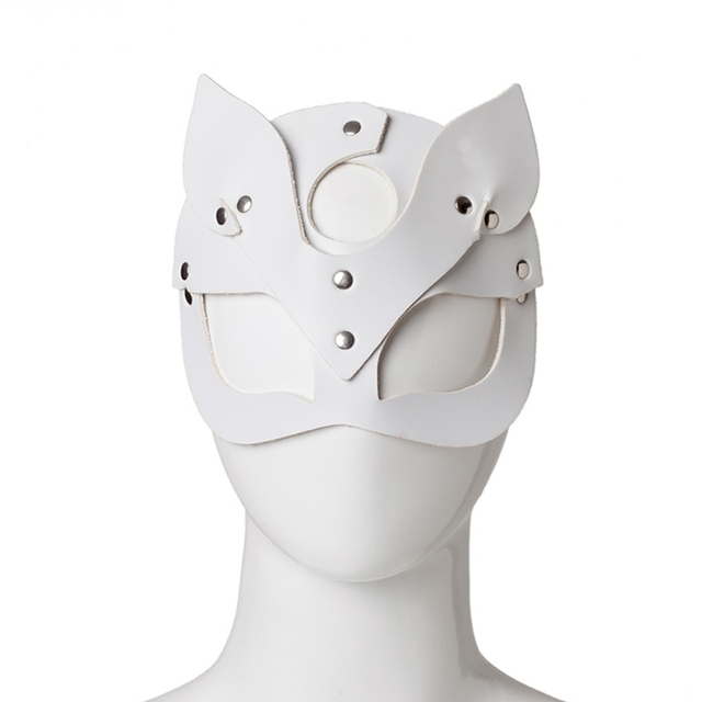 Women Sexy Mask Half Eyes Cosplay Face Cat Leather Mask Cosplay  Mask Masquerade Ball Carnival Fancy masks* 4