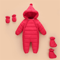Baby Winter Clothes Children Long Sleeve Hooded Thicken Rompers For Newborns Girls Warm Down Cotton Jumpsuit Roupas Bebe Unisex