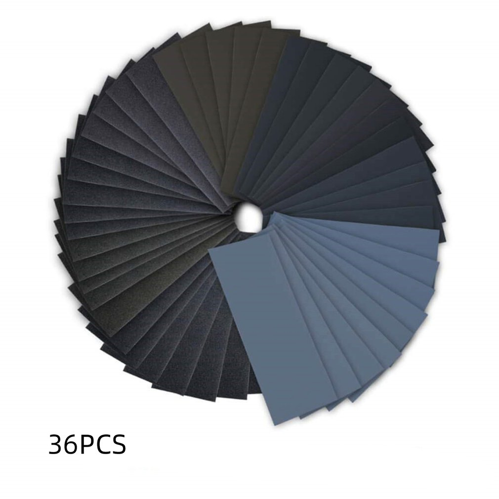 Silicon Carbide Electro Coated Polishing Effect Toughness Grit Assortment For Sanding Wood Furniture Wet Dry Sandpaper