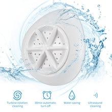 Cleaner Washer Washing-Machine Ultrasonic-Turbine Laundry Foldable USB for Home Travel