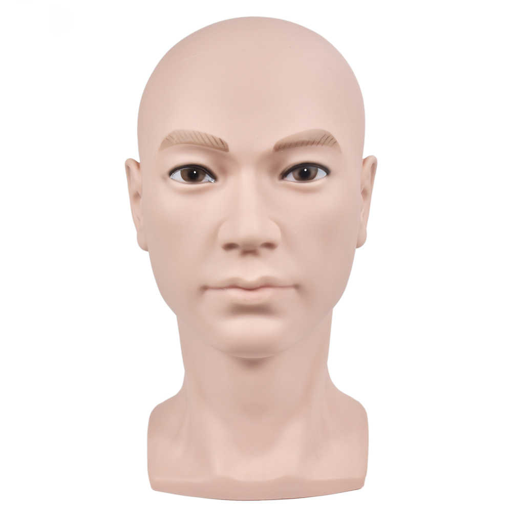 Soft PVC bald wig making mannequin training head wig stand manican head for wig making display Nail Art Hand Training Practice