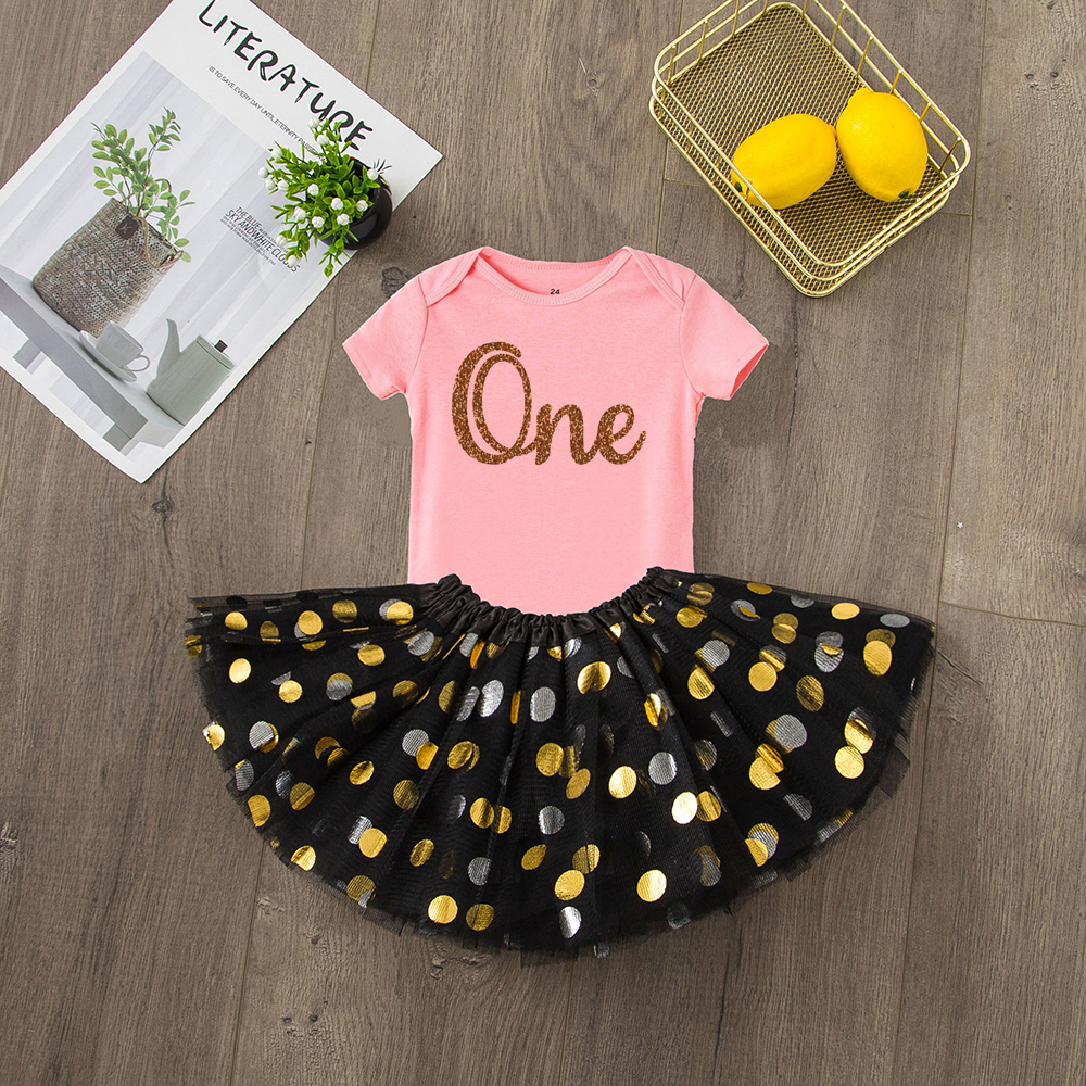 ONEderful Birthday Pink Gold Outfit 1st Birthday Party Girls Outfits Cake Smash Tutu+baby Bodysuits Summer Set Fashion Wear 9