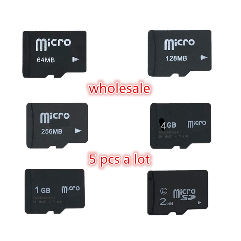 Promotion!!! 5pcs Micro SD Card 64MB 128MB 256MB 512MB 1GB 2GB 4GB 8GB TF card TransFlash Card Memory card-in Micro SD Cards from Computer & Office