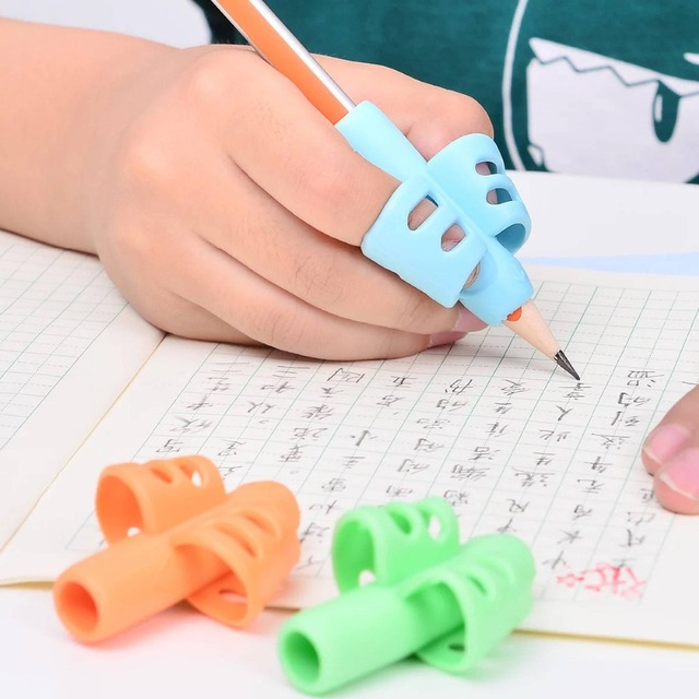1-5 Pcs Three Finger Silicone Pen Holder Writing Aids Beginner Writing Children'S Supplies Thumb Posture Correction