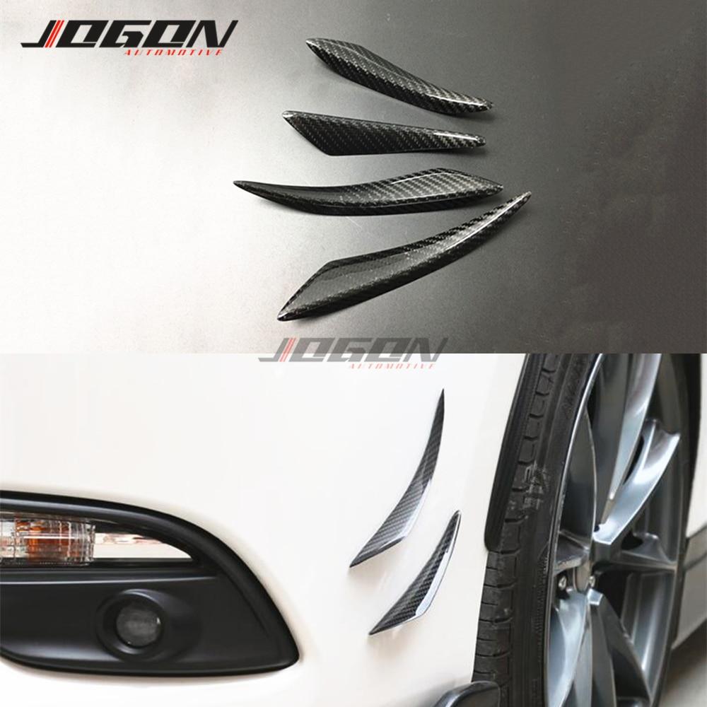 Real Carbon Fiber Side Bumper Splitter Fin Spoiler For Seat Leon 5F MK3 2013-2019 Ibiza MK5 Arona 2017-2018 Car Accessories