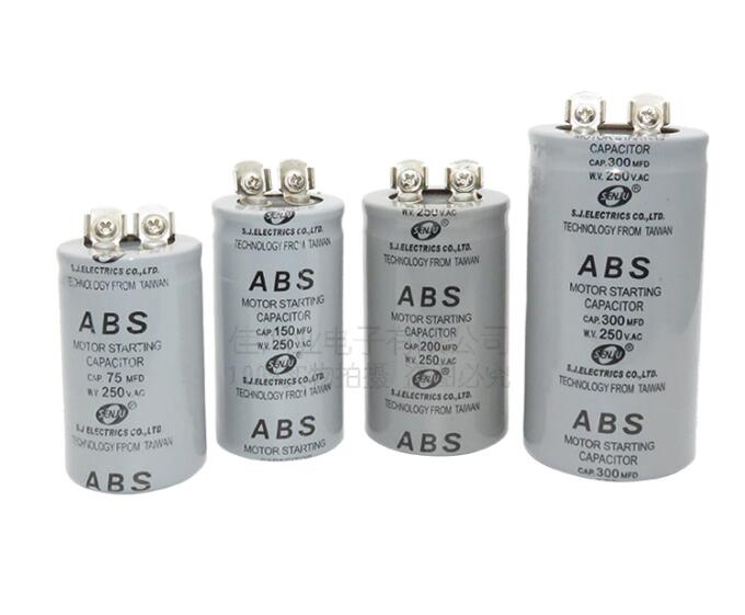 CD60  Motor Starting Capacitor  75/100/150/200/300/400/600/800/1000/1200UF 250V Screw With Terminal 150MFD