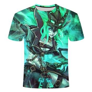 2021 Hot-selling Game League Of Legends 3D Printed Tshirt Yasuo Zed Leesin  Casual T-shirt Short-Sleeved Summer Streetwear 2