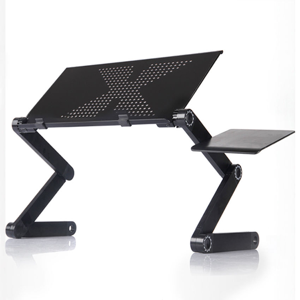 Portable Table For Laptop Desk Computer Notebook PC Stand Aluminum Foldable Adjustable Folding Tray For Sofa Bed With Mouse Pad