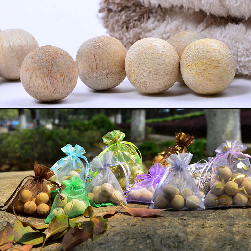 6 Pcs/bag Wooden Mothballs Natural Camphor Balls Wardrobe Pest Control Prevent Mildew Moistureproof Repellent Fragrant Wood Ball