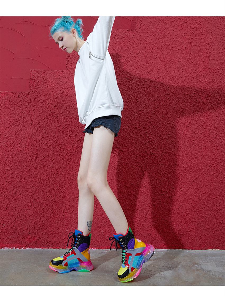 Colorful High Top Sneakers 4