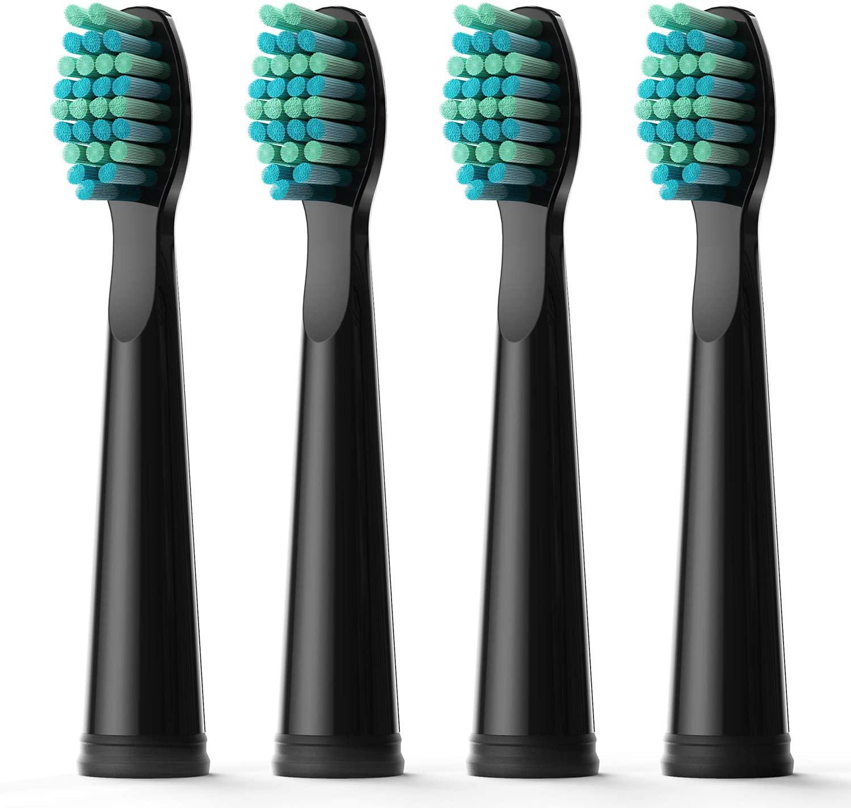 Fairywill escova de dentes elétrica cabeças substituição elétrica 4 cabeças conjuntos para FW-507 FW-508 FW-917 cabeça escova de dentes