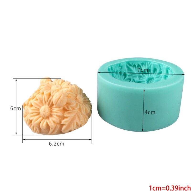 Цветок Fondant (сахарная) пресс-формы, роза, Маргаритка Подсолнух силиконовые формы для мастики для торта Cupc 87HA