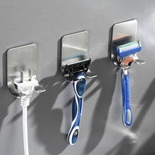 Storage Hook Razor-Holder Bathroom-Accessories Punch-Free Wall 2pcs Shaving-Shaver Men
