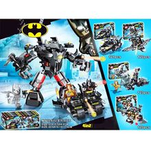 4pcs Batman Tumbler Movies Figures Batmobile Set Building Blocks Kids Toys Technic Bricks