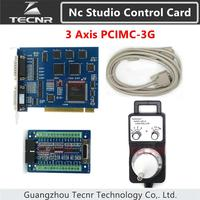 ncstudio 3G motion control card 3 axis nc studio control card system PCIMC 3G and electronic handwheel for cnc router parts