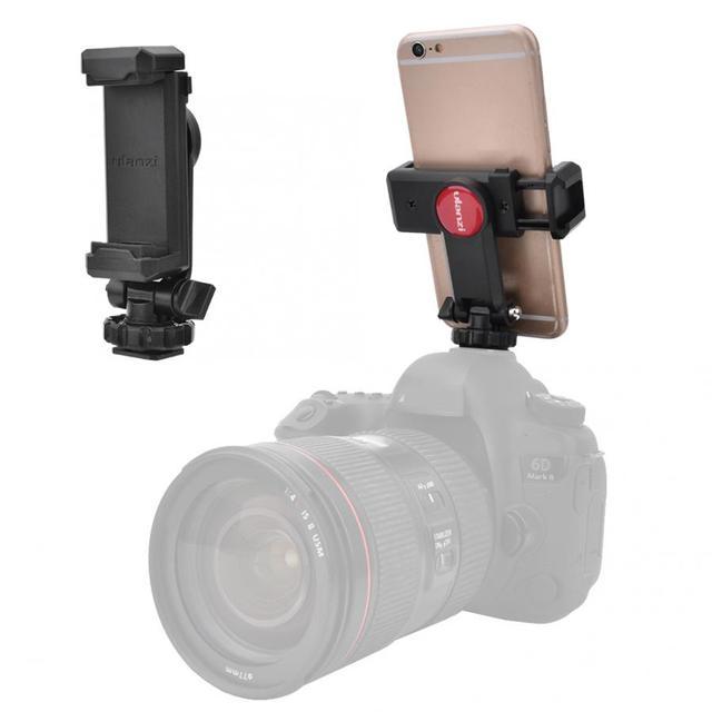 Ulanzi ST 06/Iron Man Ii/ST 07 Telefoon Houder Statief Camera Hot Shoe Smartphone Clip 360 ° Rotatie universele Voor Dslr Camera