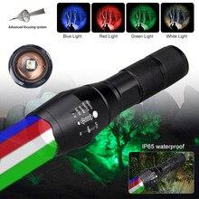 Xm-l rgbw 4 em 1 led tático arma luz interruptor remoto zoomable caça lanterna rifle scope airsoft montar scout luzes conjunto