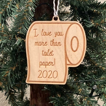 2020 New Christmas Quarantine Wooden Ornament Toilet Paper Crisis Hanging Pendant Decor image