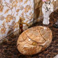 Europäischen Waschbecken Haushalts Luxuriöse Waschbecken Bad Keramik Zähler Top Wc Tabelle Waschbecken