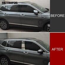 Для Volkswagen Tiguan Окно B+ C столб полосы украшения крышка отделка наклейка внешние аксессуары для автомобиля Стайлинг