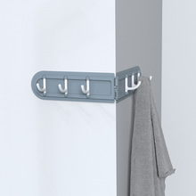 5kg Weight Capacity Creative Nordic Style Green Blue Gray Pink Corner Hook Multi-purpose Foldable Row 6 Multi-Purpose Hooks