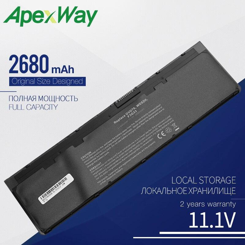 Apexway 11.1V Laptop Battery For DELL Latitude 12 7000 E7240 E7250 0WD52H 0KWFFN KWFFN 0VFV59 J31N7 PT1 X01 3100mah 3 Cells