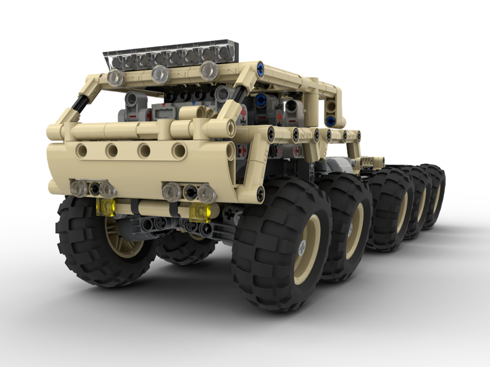 "technology building block moc-25142 ""desert snake"" - 10x10 Tatra RC assembled toy cross country boy Christmas gift(China)"