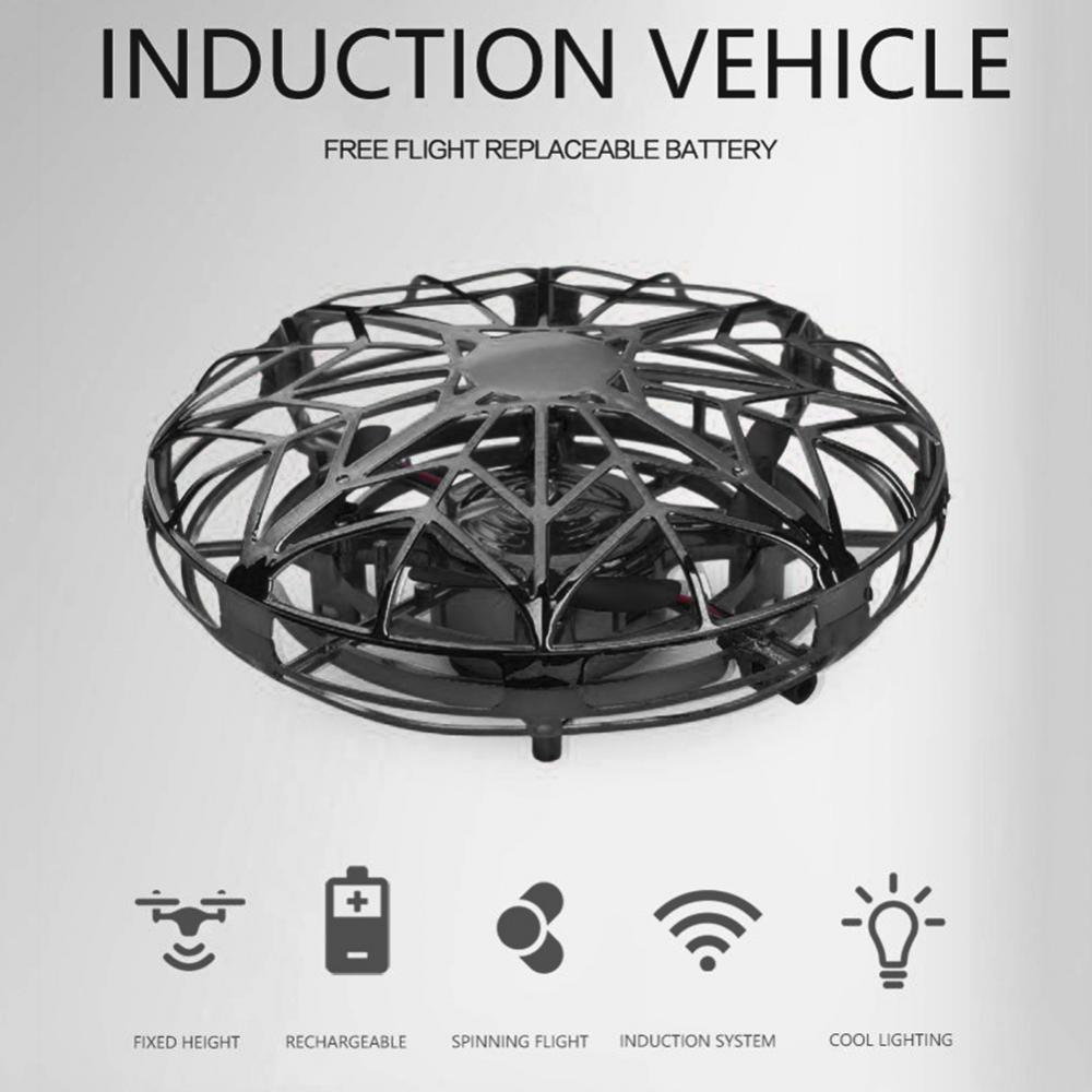 Kids 4-Axis Mini Drone UFO Infrared Induction Hand Control Flying Aircraft Toy Action Figure Gesture Sensor Robot fidget toys