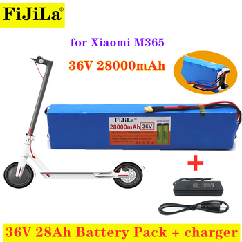 100% New 36V 28Ah Scooter Battery Pack for Xiaomi Mijia M365, Electric Scooter, BMS Board for Xiaomi m365+Charger image