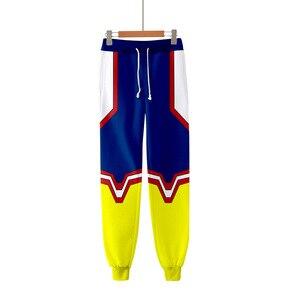 Спортивные штаны для мужчин и женщин My Hero Academia, тренировочные брюки с 3D эффектом, одежда в стиле хип-хоп, костюм для косплея