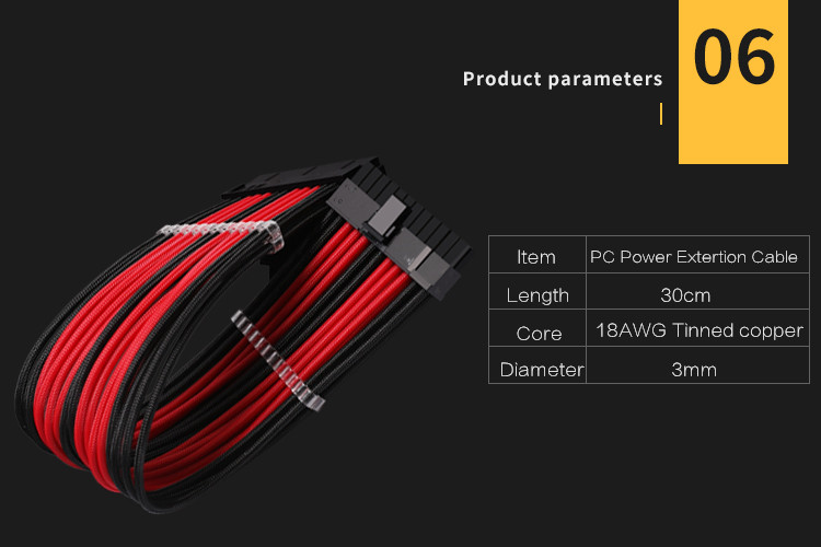 Barrow PC модуль удлинитель питания 24pin материнская плата видеокарта 6+ 2pin CPU4+ 4pin 18AWG