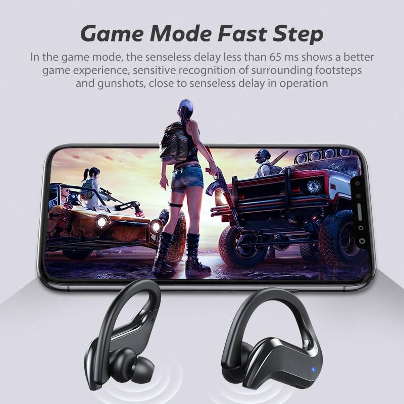 Tws Draadloze Hoofdtelefoon Bluetooth Oortelefoon Ruisonderdrukkende Sport Waterdichte Headset 9D Stereo Draadloze Oordopjes Met Microfoon 5