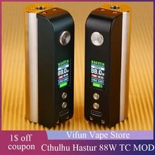 Gorący oryginalny Cthulhu Hastur MOD z maks Mocą wyjściową 88W i zaawansowanym układem atomowym tryb VW i tryb TC e-cig Vape Mod VS Gen Box Swag 2 Mod tanie tanio Elektryczne Mod Polarized 3 5cm x 2 4cm x 8 5cm Single 18650 battery 5W-88W 0 7V-9V 0 05ohm-3 5ohm 200F -600F Color OLED