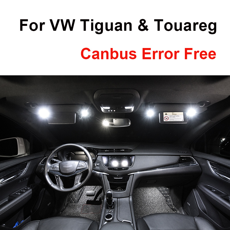 White <font><b>Canbus</b></font> Error Free <font><b>LED</b></font> Bulbs Interior Map Dome Reading Light Kit For Volkswagen <font><b>VW</b></font> Tiguan 5N For Touareg 1T1 1T2 1T3 7L 7P image