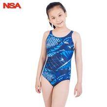 NSA/ детский профессиональный купальный костюм для девочек, спортивный купальник для девочек, цельные конкурентоспособные Купальники для детей