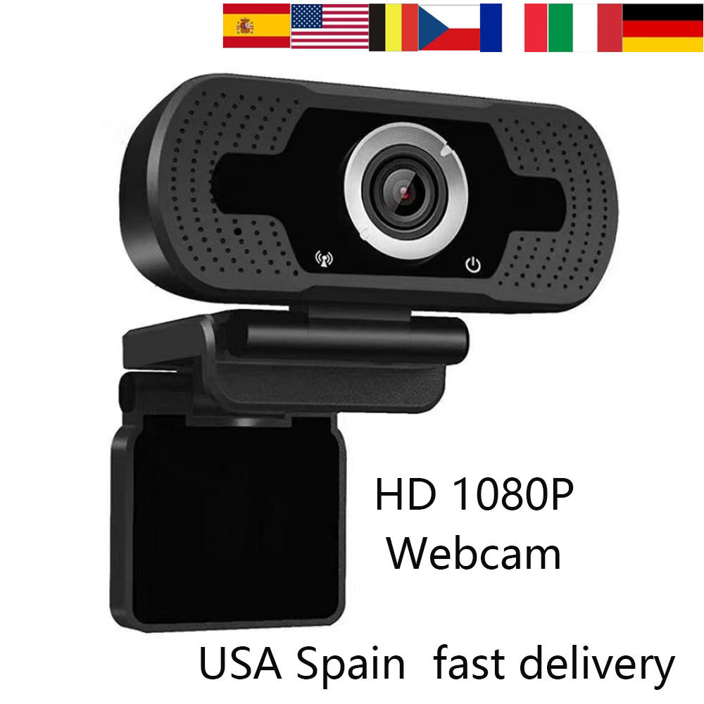USA Italy France Spain Fast Delivery 1080P HD Webcam With Microphone Auto Focus USB Webcam For Live Video Conference