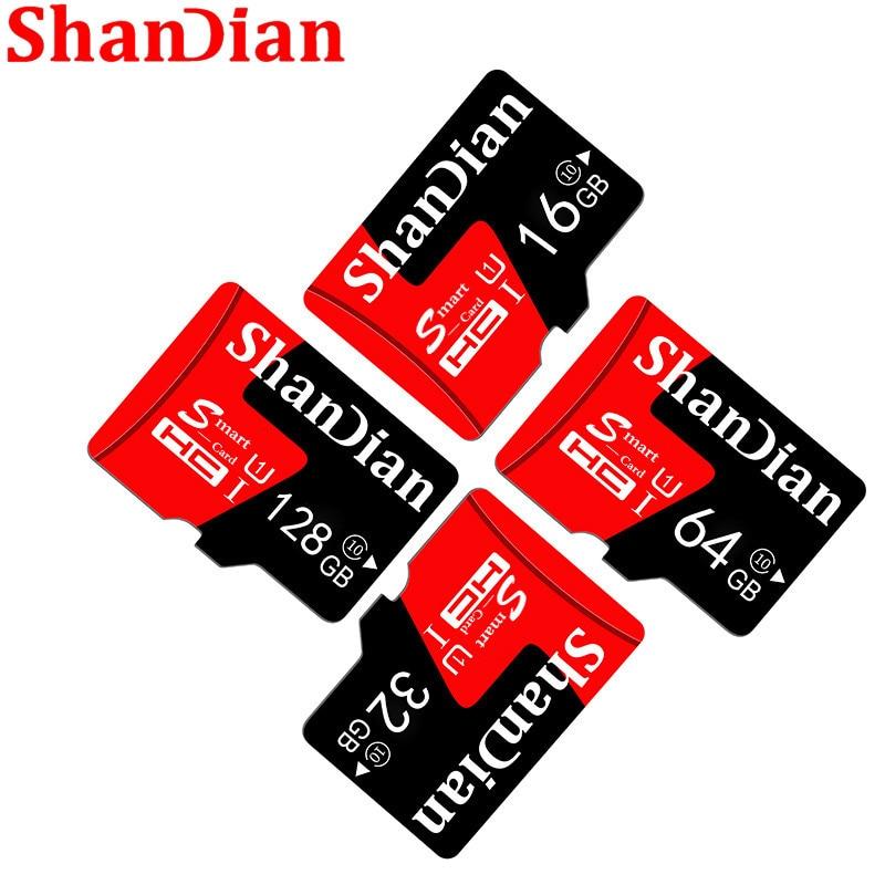 SHANDIAN Memory Card 256GB 200GB 128GB 64GB 30MB/S 32GB 16GB Micro Sd Card Class10 UHS-1 Flash Card Memory Microsd TF/SD Card