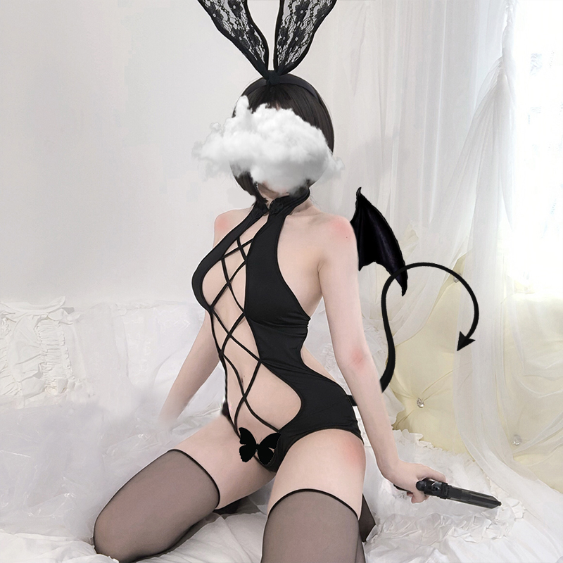 Sexy Women Anime Lingerie Babydoll Swimsuit Set Cute Lolita Underwear Cartoon Cosplay Erotic Devil Porno Costume Maid Bunny Girl