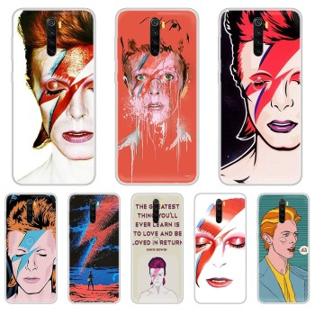 Art david bowie trend 3D shell coque Transparent Phone Case For XIAOMI Redmi Note 3 4 5 6 7 8 9 9s Pro max 8T 4X image