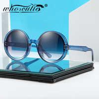2020 Retro Rotondo Occhiali Da Sole Degli Uomini Delle Donne di Disegno di Marca Trasparente Cornice Blu Lente Cerchio di Modo di 90s occhiali da Sole Occhiali Shades Donna s137