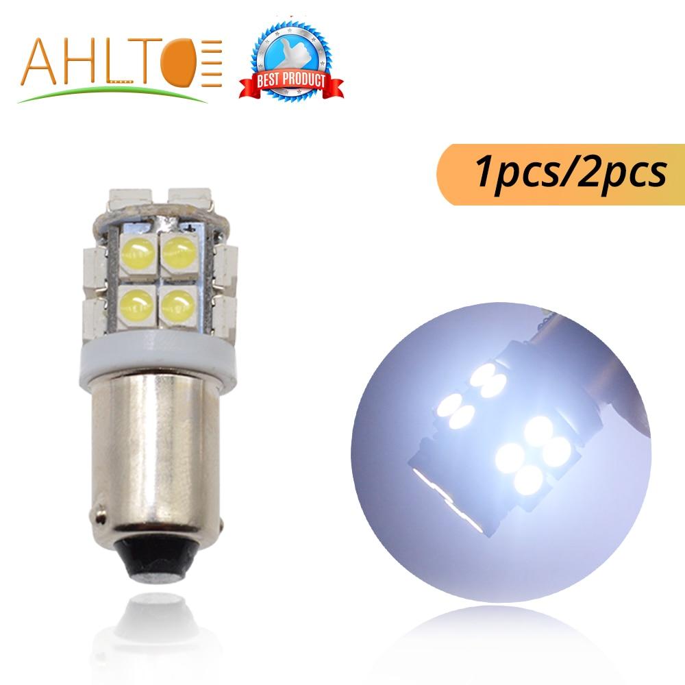 2Pcs T11 Ba9s T4W 3528 20smd 1210 Interior Reading License Plate Bulb Tail Lamps Gauge White Bright Light DC 12V Car Marker Led