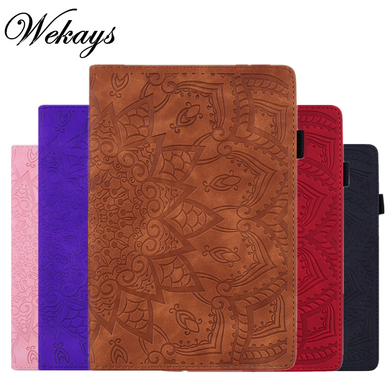 Wekays For Apple Ipad Air Ipad 5 A1474 A1475 <font><b>A1476</b></font> Classic Flower Leather Funda Case For IPad Air IPad 5 IPad5 9.7'' Cover Cases image