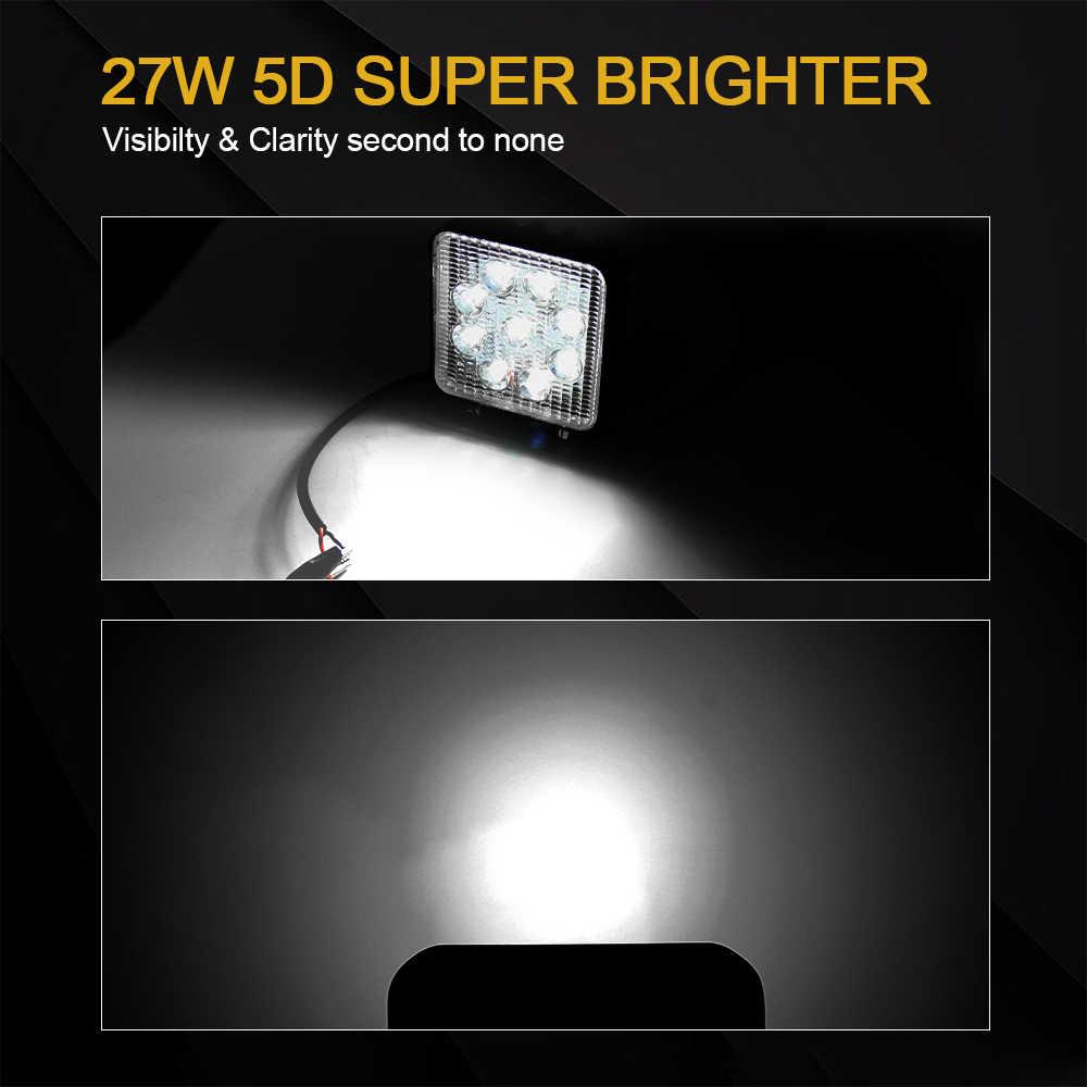CO светильник 54 Вт, рабочий светильник 12 в 24 в 4 дюйма, дальнего света, ДХО, светодиодный рабочий светильник, бар для авто, грузовик, лодка, мотоцикл, внедорожник 4x4, внедорожная Светодиодная панель